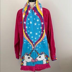 Rainbow Unicorn Scarf Knitted